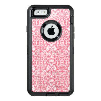 Pink Yarrow Floral Damask OtterBox Defender iPhone Case