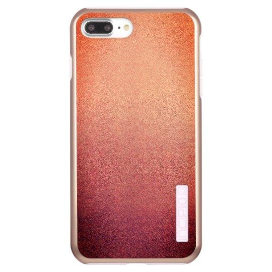 Pink Yarrow Ombre Glitter Sand Look Incipio DualPro Shine iPhone 8 Plus/7 Plus Case