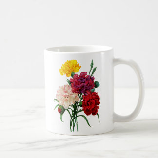 Pink Yellow and Red Carnations by Redoute Coffee Mug