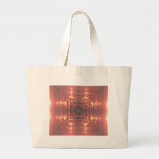 Pink Yellow Artistic  Ocean Sunset Large Tote Bag