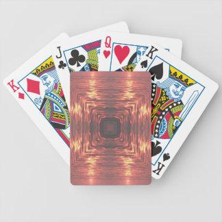 Pink Yellow Artistic  Ocean Sunset Poker Deck