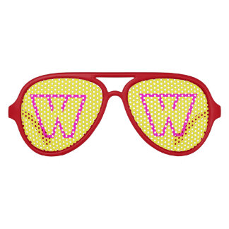 Pink Yellow Aviator Party Shades, Red Sunglass Party Shades