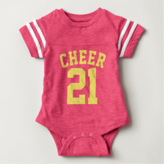 Pink & Yellow Baby | Sports Jersey Design Baby Bodysuit
