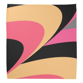 Pink Yellow Black Stylish Pattern Bandana