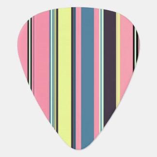 Pink Yellow Blue Purple Vertical Stripe Pattern Guitar Pick