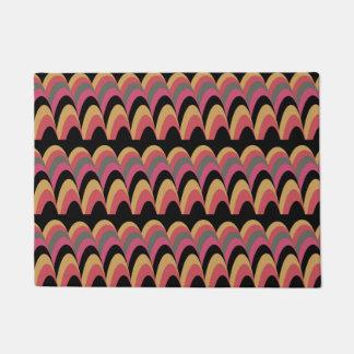 Pink Yellow Blue Stylish Pattern Doormat