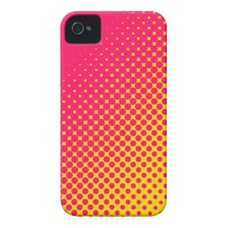 Pink & Yellow Fluorescent Dots iPhone 4/4S Case