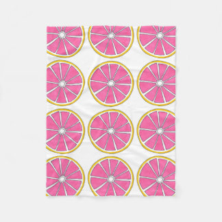 Pink Yellow Grapefruit Citrus Fruit Foodie Blanket
