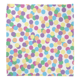 Pink Yellow Orange Green Blue & Purple Polka-Dots Bandana