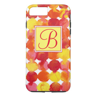 Pink Yellow Orange Red Intertactions Monogram iPhone 8 Plus/7 Plus Case