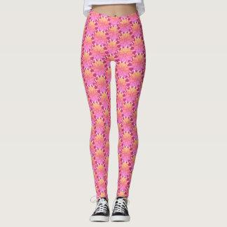 Pink & Yellow Pinwheels - Leggings