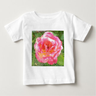 Pink & Yellow Spotted Rose Baby T-Shirt
