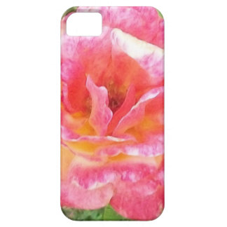 Pink & Yellow Spotted Rose iPhone 5 Case