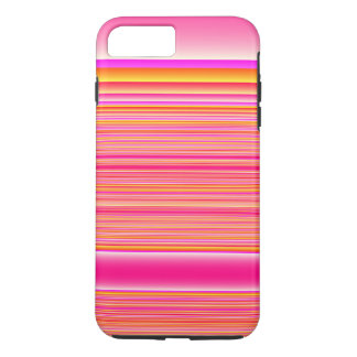 Pink Yellow Stripes iPhone 7 Plus Case
