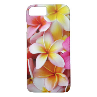 Pink Yellow White Mixed Plumeria Flower iPhone 8/7 Case