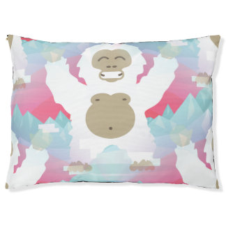 pink yeti animal puppy pet dogbed dog bed large dog bed