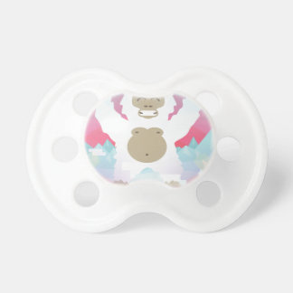 pink yeti baby pacifiers