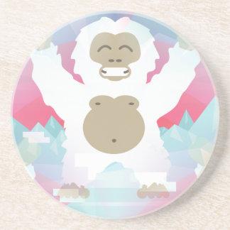pink yeti drink coaster
