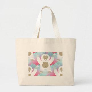pink yeti large tote bag