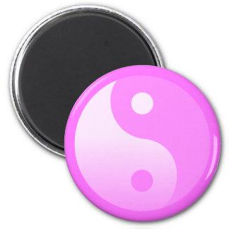 Pink Yin-Yang Symbol Magnet