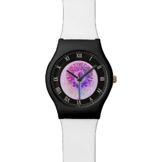 Pink Yoga Tree Woman in Pastel Colors Watches