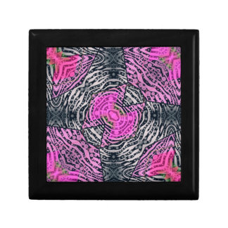 Pink Zebra Abstract Jewelry Boxes