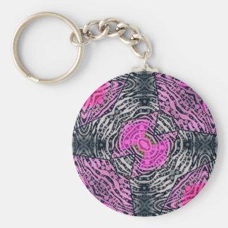 Pink Zebra Abstract Keychain