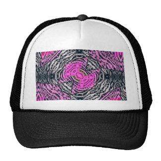 Pink Zebra Abstract Trucker Hat