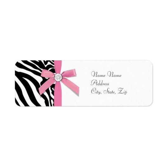 Pink Zebra Address Labels