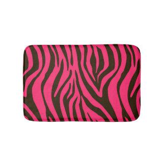 Pink Zebra Animal Print Pattern Bath Mat