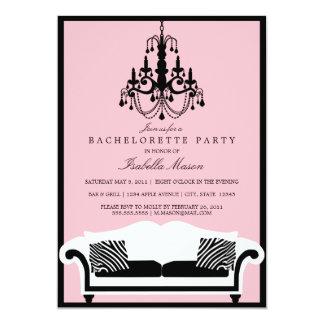 Pink Zebra Bachelorette Party Invitation
