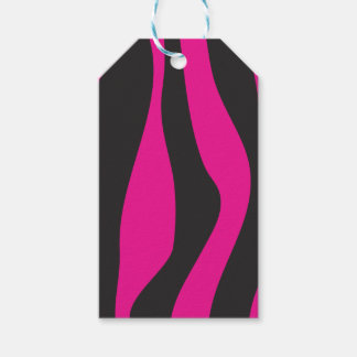 Pink zebra gift tags