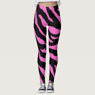 Pink Zebra Pattern Leggings