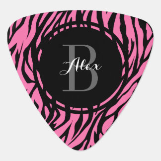 Pink Zebra Personalized Guitar Pick