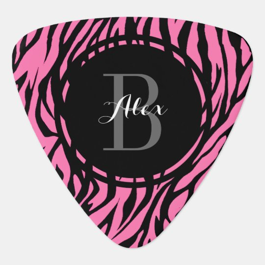 Pink Zebra Personalized Guitar Pick