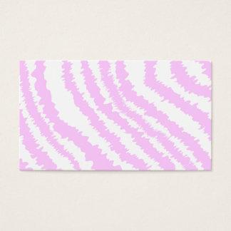 Pink Zebra Print, Animal Pattern. Business Card