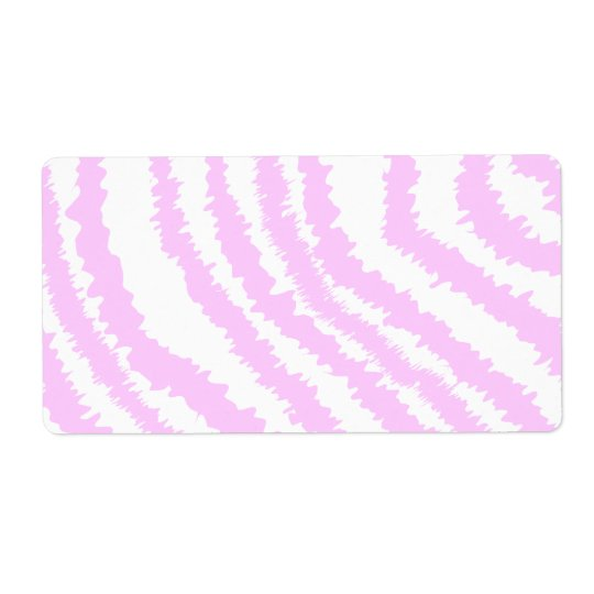 Pink Zebra Print, Animal Pattern. Shipping Label