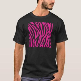 pink-zebra-print-(Black) T-Shirt