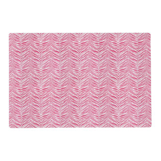 Pink Zebra Print Customizable Laminated Place Mat