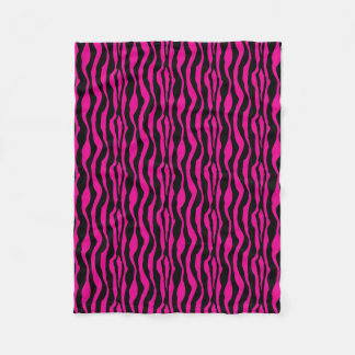 Pink Zebra Print Fleece