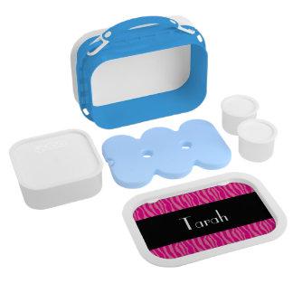 Pink Zebra Print Pattern Personalize Custom Lunch Box