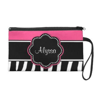 Pink Zebra Print Personalized Bag