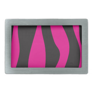 Pink zebra rectangular belt buckle