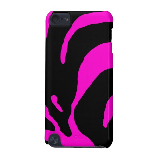 Pink Zebra Stripe Animal Print iPod Touch (5th Generation) Case