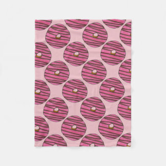 Pink Zebra Stripe Donut Doughnut Breakfast Blanket