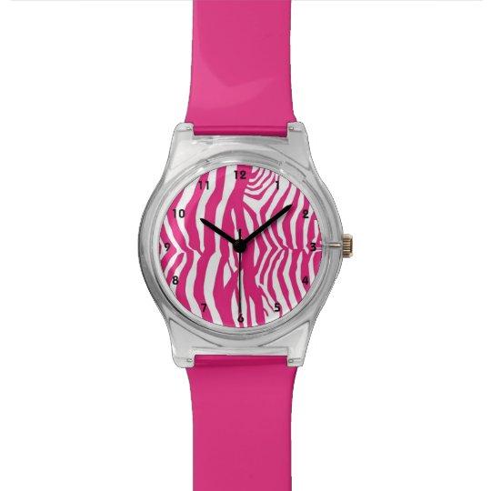 Pink Zebra Stripe Watch