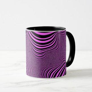 Pink Zebra Stripes Mug