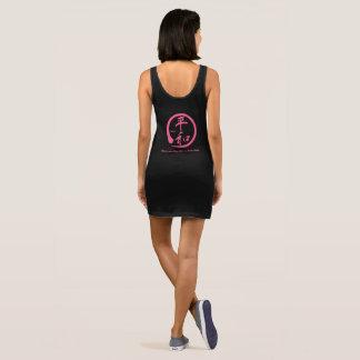 Pink zen circle • Kanji symbol for peace Sleeveless Dress