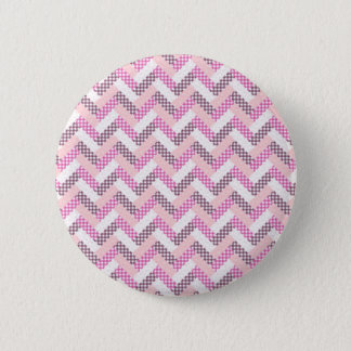 Pink Zig Zag Quilt Pattern Gifts for Her 2 Inch Round Button