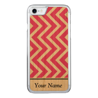 Pink zigzag carved iPhone 7 case